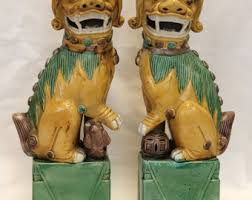 foo dogs for sale porcelain foo dogs etsy