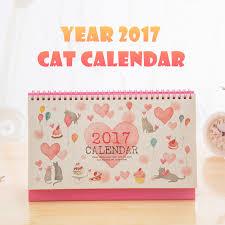Desk Daily Calendar Aliexpress Com Buy Year 2017 Desk Calendar Cute Kawaii Cats