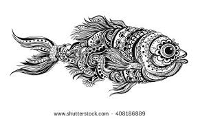 royalty free fish zentangle doodle fish 300087299 stock photo
