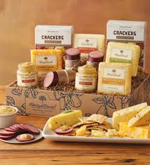 meat and cheese gift baskets grand sausage and cheese gift box harry david