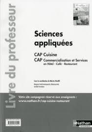 sciences appliqu s cap cuisine sciences appliquées cap cuisine et cap commercialisation et
