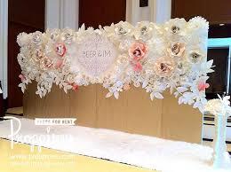 wedding backdrop initials แต งงาน ร บทำ backdrop ดอกไม กระดาษ inkjet by proppiness