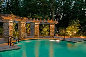 Outdoor Water Features With Lights by Custom Pool Lighting Outdoor Lighting Perspectives