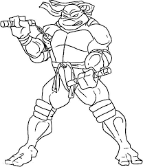 michelangelo ninja turtle coloring pages coloringstar