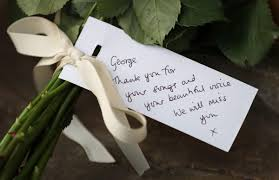 George Michaels Home Pictures Floral Tributes Laid At Oxfordshire Home Of George