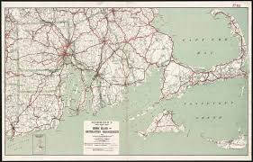 Map Of Massachusetts by Hammond U0027s New Road Map Of Rhode Island And Southeastern