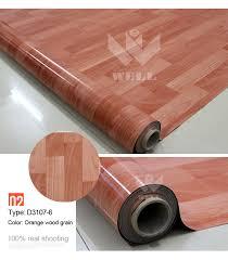 pvc floor covering for indoor usage wood looking plastic