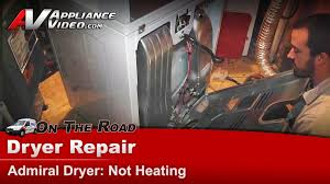 Clothes Dryer Not Heating Properly Admiral Aed4475tq1 Dryer Repair U2013 Not Heating U2013 Thermal Fuse