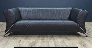 rolf sofa 322 rolf 322 designer sofa schwarz leder dreisitzer modern