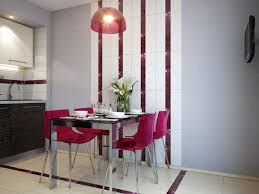 fancy small kitchen and dining room design inspiration with purple