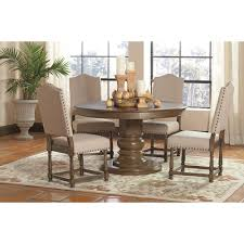 value city dining room furniture likeable coaster willem 5 piece round single pedestal table set