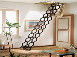 top folding stairs design pull down pole for attic stairs folding