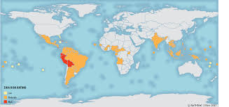 Where Is Cuba On A Map Nathnac Zika Virus U2013 Update And Advice For Travellers