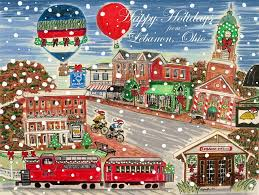 happy holidays from lebanon ohio painting by diane pape