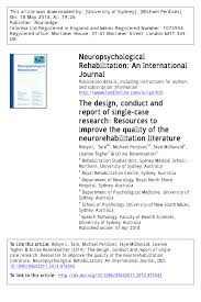the design conduct and report of single case research resources