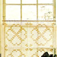 Lace Cafe Curtains Kitchen by Crochet Lace Cafe Curtains Crochet Cafe Curtains Pattern White