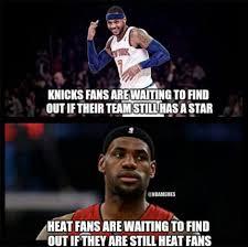 Heat Fans Meme - nba memes on twitter knicks fans vs heat fans lebron melo http