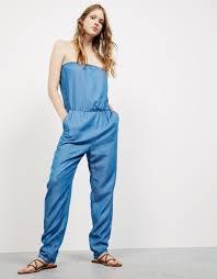 strapless denim jumpsuit strapless denim jumpsuit