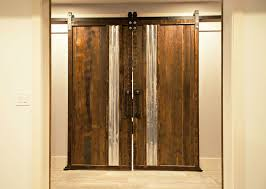 Custom Basement Doors - custom barn doors with plumbing pipe handles atlanta specialty woods