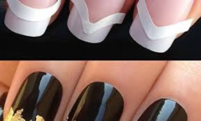 nail art set 172 x48 french manicure tip guides u0026 a large gold