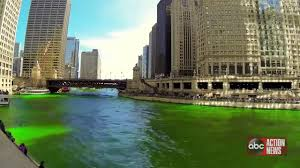 chicago river goes green for st patrick u0027s day youtube