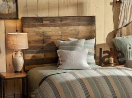 Barn Wood Headboard Small Spaces Rustic Bedroom Design With Unusual Reclaimed Wood