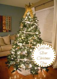 decorating cents gold and silver tree