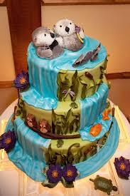 otter cake topper adorable river otter wedding cake cakes cakes cakes