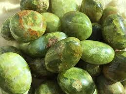 green opal rock green opal tumbled green opal rare madagascar opal chakra