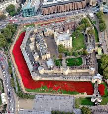 tower of london aerial photo shows 900k poppies art installation