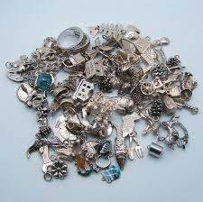 vintage silver bracelet charms images Big bunch of vintage silver charms to sell vintage charms bracelets jpg
