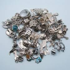 vintage silver bracelet charms images Big bunch of vintage silver charms to sell vintage charms bracelets jpg