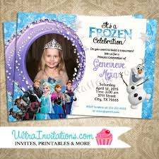 custom birthday invitations personalized frozen birthday invitations christmanista