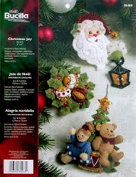christmas joy bucilla felt ornament kit 85463 fth international