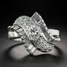 87 carat mid century platinum and diamond cocktail ring