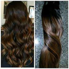balayage hair extensions 1b 6 warm brown balayage clip in set balayage hair extensions