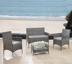Modern Outdoor Dining Set by Amazon Com Modern Outdoor Garden Patio 4 Piece Seat Grey
