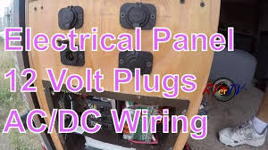 enclosed trailer interior light kit cargo trailer conversion electrical wiring 12 volt plugs ac