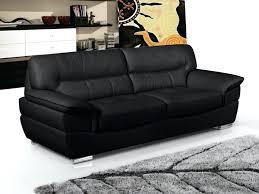vente unique canapé canape cuir noir 3 places canapac 3 places en cuir thibault noir