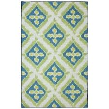 Lowes Indoor Outdoor Rugs by Shop Mohawk Home Summer Splash Blue Rectangular Outdoor Tufted