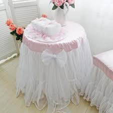 romantic wedding decoration tablecloth yarn skirt table cover