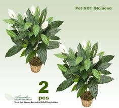 silk plants 3 artificial spathiphyllum silk plants with no pot
