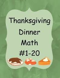 thanksgiving dinner math 1 20 by cc s classroom creations tpt