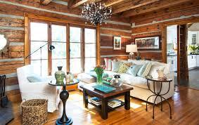 cottage livingroom log cottage living room rustic toronto by fig interiors