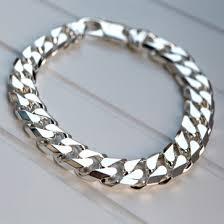 mens bracelet sterling silver images Silver mens 11mm chunky curb link bracelet 2oz jpg