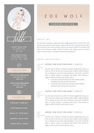 fashion resume templates creative fashion resume templates stylist and luxury best 25 ideas