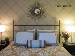 over the bed decor chunky mirror above bed i love the idea of a