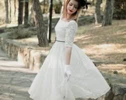 50 s wedding dresses 50s style wedding dress with sleeves naf dresses