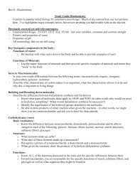 study guide organic chemistry