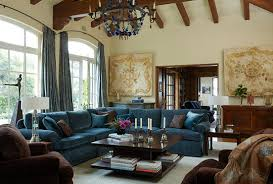 Teal Color Sofa by Colorful Living Rooms Traditional Home